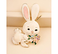 Fashion Korean Rabbit Gold Plated Brooch for Women In Jewelry