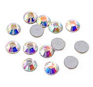 3mm Fashion Multicolor Acrylic Flatback Faceted Round Sticky Rhinestones Gems(100 pcs)