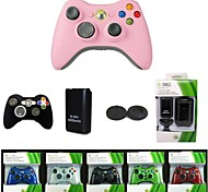 Microsoft Wireless Controller Game Remote + Battery + Silicone Case + 4in1 Charging Suit for Microsoft Xbox 360