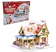 The Christmas Gift Smart House Cottage 3D Puzzles DIY(40PCS)