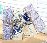 Blue and White Porcelain Postcard Set
