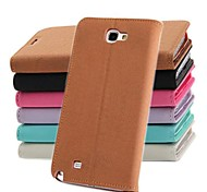 Fashion Wallet Style PU Leather Full Body Case with Stand and Card Slot for Samsung NOTE2 N7100