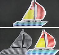 1pcs template padrão claro contas de fusíveis barco pegboard vela para hama contas 5 milímetros cabeças diy
