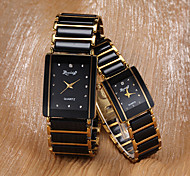 Women's Watch Rectangle Dial Alloy Band One Pair Cool Watches Unique Watches Fashion Watch