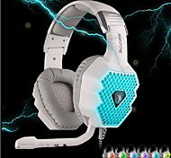 SADES A70 Headphone USB Over Ear Gaming with Microphone Remote Control for PC