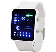 Fashion Silicone Band Water Resistant LED Binary Wrist Watch (1 x CR2016)