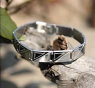 Men's Fashion Personality Titanium Steel Steel Triangle Pattern Bracelets