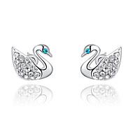 Roxi Fashion Swan Shape Austrian Crystal Silver Zircon Alloy Stud Earring(1 Pair)