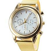 Women's Fashion Gold Steel Band Quartz Wrist Watch