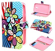 Colorized Flowers Wallet PU Leather Case Cover with Stand and Card Slot for Motorola Moto G2 XT1063 Dual SIM