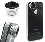 Detachable 2in1 Magnetic LENS Wide Lens Macro Lens For iPhone/Samsung/HTC/Mobile Phone and Digital Camera