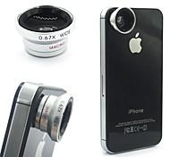 2in1 staccabile lente magnetica grandangolare obiettivo macro per iphone / samsung / htc / telefono cellulare e fotocamera digitale