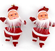 "2Pcs 7"" Christmas Tree Hanging Decoration  Santa Claus"