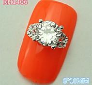 10PCS RH1406 Top Luxury Zircon Nail sticker style 3D Alloy nail art DIY  Nail Salon beauty Nail Decoration