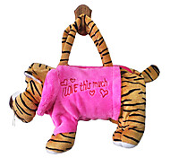 Tiger Design Plush Toys Soft Hand Bag(Random Color)