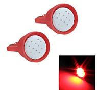 Merdia T10 1.5W COB 300LM 6SMD LED Highlight Red Light for Car Instrument Light /Licence Plate Light