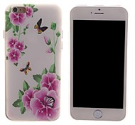 Pink Flowers and Butterfly Design PC Hard Case for iPhone 6
