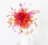 Orange and Fuschia Feather Women's Fascinator