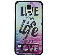 """""""Leben das Leben, das Sie lieben"""" Muster PC-Festrückseitigen Abdeckung für Samsung Galaxy s5"""