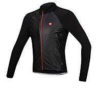 SANTIC Radsport Jacke / Trikot Herrn Fahhrad Wasserdicht / Windundurchlässig / Fleece Innenfutter / warm halten Langärmelige Dehnbar