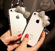 bowknot com diamante tampa traseira difícil para iPhone 4S 4 / iphone