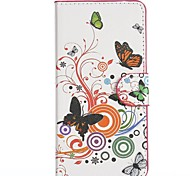 Fancy Style of Butterflies Pattern PU Leather Full Body Cover with Stand for HTC Desire 610