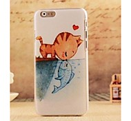 Cat Dear Fish Style Plastic Hard Back Cover for iPhone 6