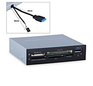 """3.5"""" Floppy Panel USB3.0 & USB 2.0 Card Reader CF/SD/MS/TF/XD multi-in-1 With Bracket Free Shipping"""