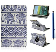 племенные ковры и слон шаблон PU кожаный полный случай тело с подставкой для Samsung Galaxy Tab с 8,4 t700