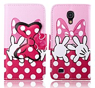 Pink Bowknot Pattern PU Leather Case for Samsung Galaxy S4 MINI I9190