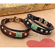 Z&X®  Punk Fashion Rivet Handmade Leather Rope Bracelets