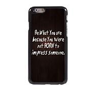 sein, was Sie Design-Alu-Hülle für das iPhone 6
