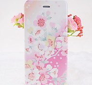 Beautiful Flowers Pattern Leather Full Body Cases with Stand for iPhone 6
