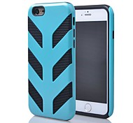 2014 New Products 2 in 1 Design Silicone + PC Armor Style Detachable Cover for iPhone 6 (Assorted colors)