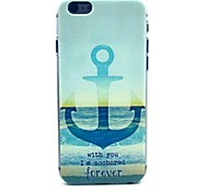 Anchor Pattern Plastic Hard Cover for iPhone 6
