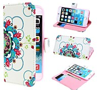Beautiful Flowers PU Leather Case with Stand and Card Slot for iPhone 6