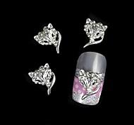 10pcs Silver Fox Mask For Alloy Accessories Nail Art Decoration