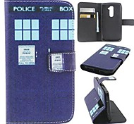 Public Phone Booth Pattern PU Leather Full Body Case with Card Slot, Stand and Strap for LG G2