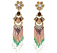 Bohemia Style Fashion Long Section Tassels Drop Earrings Hot Sale