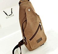 Man's The High Quality Outdoors Fashional Brown Canvas Shoulder Bag
