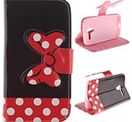 Bowknot Design PU Leather Case Cover with Stand and Card Slot for Motorola MOTO X