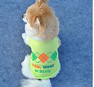 Polyester Light Green Pets Vest, Cooling Puppy Apparel Coat Clothes (Assorted Sizes)