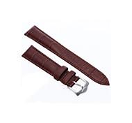 18mm Unisex Genuine Leather Watch Band Strap Bracelet Dark Brown Fashion