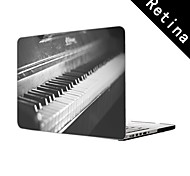"""Old Vintage Piano Design Full-Body Protective Plastic Case for 13""""/15"""" MacBook-Pro with Retina Display"""