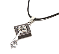 Bling Bling Square Key Zinc Alloy Men's Pendant Necklace