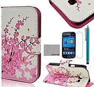 patrón de flores flora estuche de cuero de la PU de coco Fun® con protector de pantalla y lápiz para Samsung Galaxy Lite tendencia 7390/7392