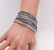 Eruner®Hot Vogue Women Charm Bracelet Rhinestone Six Row Crystal Wrap-around Bracel