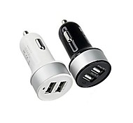 Dual-USB Car Cigarette Lighter Power Adapter for Smartphones and Tabs