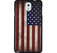bandera retro de EE.UU. patrón pc caso duro para Samsung Galaxy Note 3