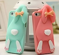 Lovely Bucktooth Rabbit Silicone Back Cover for iPhone 6 (Assorted Color)